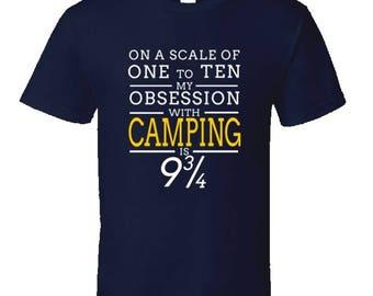Funny camping t shirt,Camping Shirt, Camping Tshirt,Camping Gift,Camping Gear,Camping Life,bbq t shirt,campfire camping,Camping Obsession