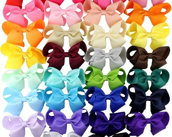 4 inch bows-4 inch bow clips-Hair bows-girls bows-baby hair bows-diy bows-hair bows