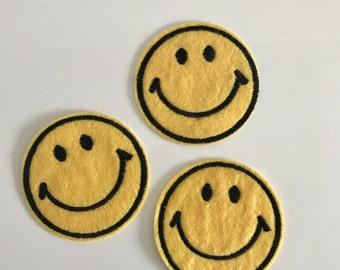 Smiley Patch (1 stuk) - Iron on patch