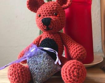 Lavender-filled Amigurumi Teddy Bear