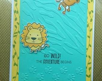 Birthday card for boys, jungle card
