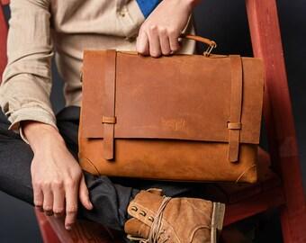 Mens leather bag Messenger bag Mens messenger Leather satchel bag A4 bag Men's leather bag Mens leather briefcase Leather shoulder bag men