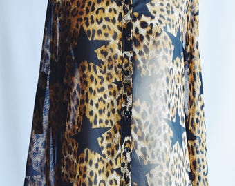 Transparent blouse Leopard star.