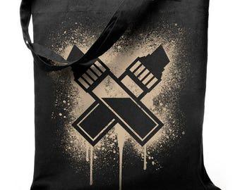 Black ink - jute bag
