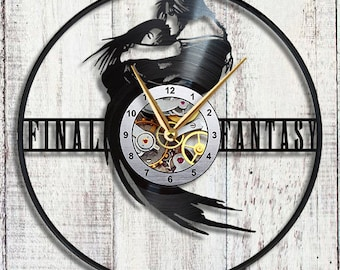 Final Fantasy 8 Vinyl LP Record wall clock