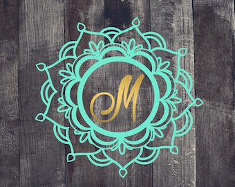 Mandala #3, Mandala Monogram Decal, Mandala Decal, Mandala Yeti Decal, Mandala Car Decal