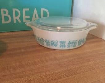 Vintage Pyrex butter print 471 casserole dish w / lid amish butterprint