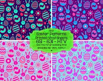 Easter Pattern Vinyl/Printed Heat Transfer Vinyl/Patterned Vinyl/Printed 651 Vinyl/Printed 631 Vinyl/Printed Outdoor Vinyl/Printed HTV