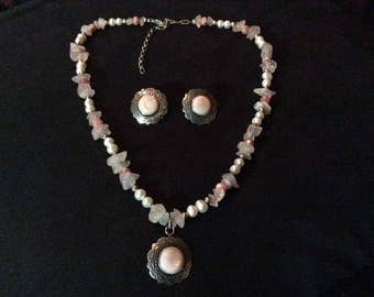 Lovely Lady Like Carolyn Pollack Necklace & Earrings Set