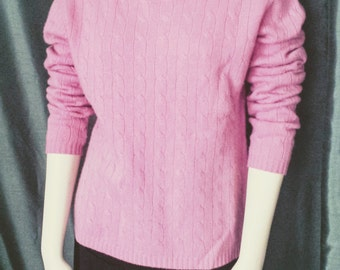 20% OFF Pink Cashmere Sweater /L/Xl Cashmere Sweater/Pink Pullover/Cashmere Knitt Pullover. Mark Shale Cashmere Vintage Sweater, Item Nr.095