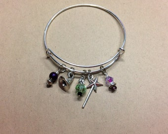 Wicked Bangle Charm Bracelet - Inspired by the Musical