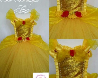 Belle yellow princess ballgown with oranza overlay - party - photoshoot - birthday - tulle
