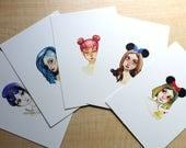 Disneyland Food Fans Print Set