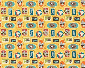 Little Flyers Fabric, Cute Fabric, Fat Quarter Metre Fabric, Riley Blake Designs, Quilt Fabric, Children's Fabric
