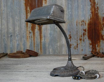 vintage desk lamp, desk lamp, rustic desk lamp, vintage lamp, steampunk lamp, steampunk