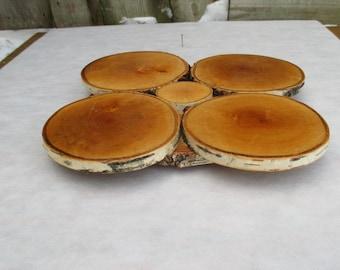 13'' cake stand, Rustic Wood Centerpiece, Wood Cake Stand, Cupcake Stand, Rustic Wood Stand, Rustic Wedding Decor, birch slice cake stand