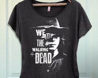 Inspired by the Walking Dead Carl Grimes Women's Dolman Scoop T-shirt- Shirt-Tee-Graphic-TWD RIP