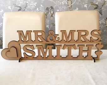Wooden 60cm Standing Mr&Mrs Sign