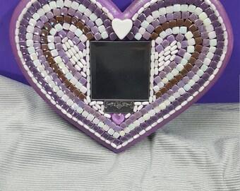 Mosaic Heart Mirror