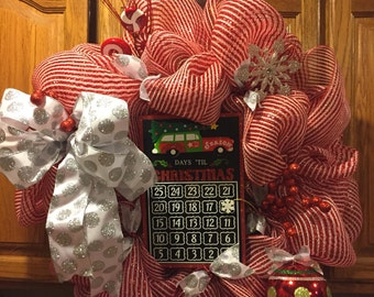Sparkly Christmas mesh wreath