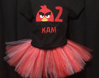 Angry Bird Birthday Shirt, Girls Angry Bird Shirt, Angry Bird Birthday Party, Girls Birthday Shirt, Girls Birthday Outfit, Angry Bird Outfit