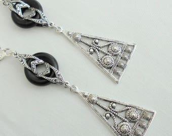 Art Deco Art Egyptian Revival Art Nouveau  Stunning  Drop Earrings