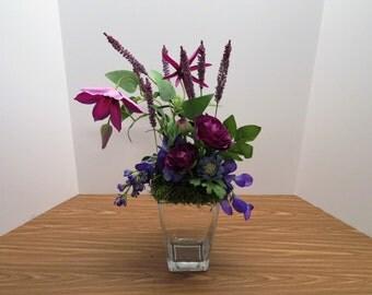 Home Decor Floral Arrangement Centerpiece Spring Wildflowers Arrangement