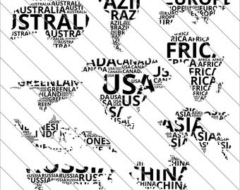 World map silhouette etsy studio world map silhouettes svg map clipart map silhouettes world map svg cut filedxfpng use with silhoutte studio cricut instant download gumiabroncs Images