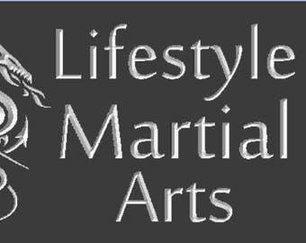 Martial Arts School Name Plate
