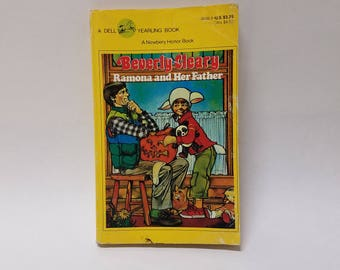 Vintage Ramona and Her Father Paperback Novel Beverly Cleary Dell Yearling 1979 Printing