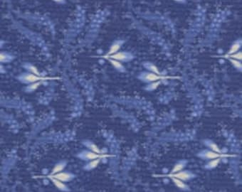 By the HALF YARD - Everything Blue 2 by Marsha McCloskey for Clothworks, Pattern #Y1546-90, Tonal Blue Floral