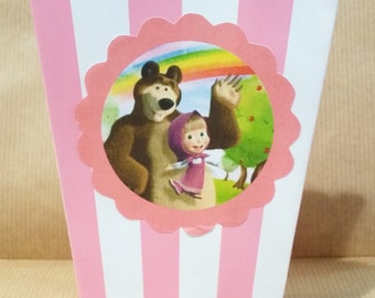 popcorn boxes 10 themed sets masha and the bear