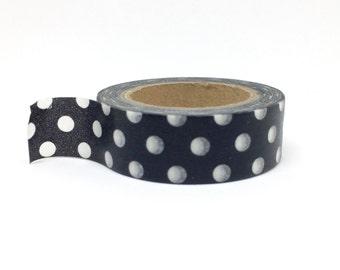 Black and White Polka Dot Washi Tape