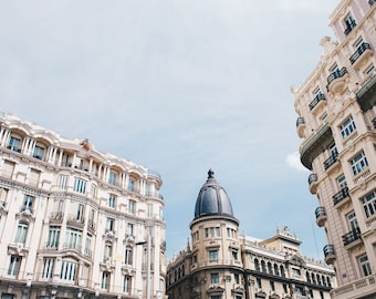 Madrid, Spain, Architecture, Gran Via, Spanish Streets, Travel Photography, Spanish, Travel, Print, Photograph, Fine Art, Wall Art