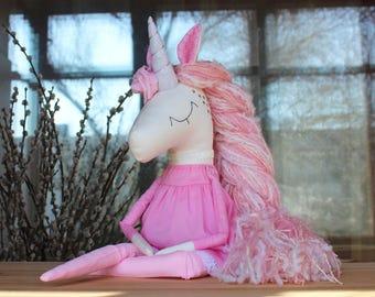 Unicorn Lily - Handmade Toy- Magic Unicorn-Rainbow Unicorn-Soft Toy- Textile Toy- Birthday gift-Unicorn Toy-Unicorn Doll-Stuffed Unicorn toy