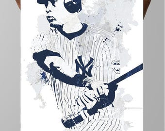 Derek Jeter New York Yankees, Sports Poster, Fan art