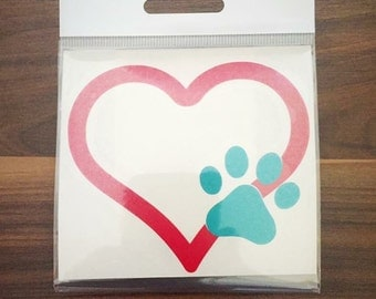 Heart with paw print