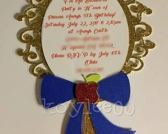 Princess mirror invite and tag