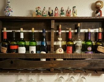 10 bottle reclaimed wood wine rack