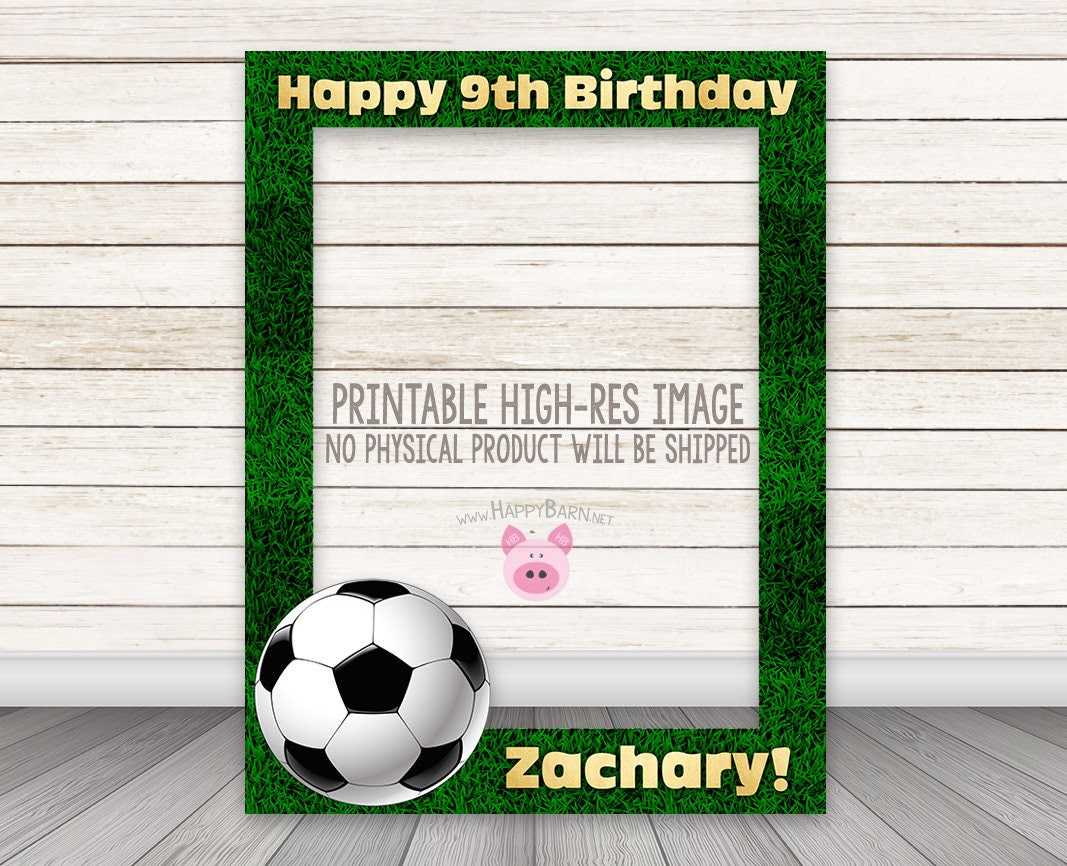 PRINTABLE Soccer Photobooth Frame Football Photo Booth Frame