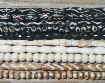10 Strands of Buffalo Bone Beads (Lot 7)