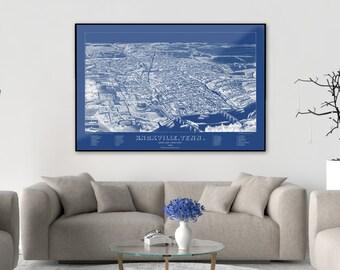 Knoxville, Knoxville Print, Knoxville Poster, Knoxville Art, Knoxville Tennessee, Knoxville Skyline, Knoxville Wall Art, Knoxville Map, 109