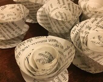 10 paper flower roses