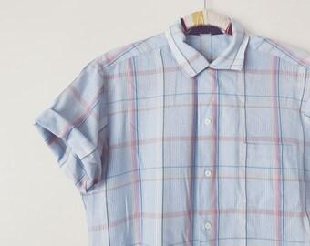 Vintage Pastel Plaid Shirt