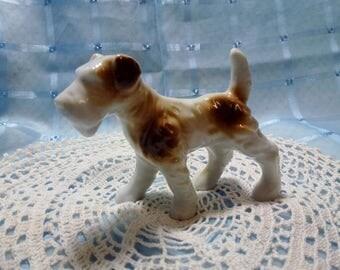 Vintage Ceramic Airedale Terrier Dog Statue