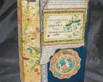 LILLYANNE ... Junk Journal, Writing Journal, Keepsake Journal, Notes Journal, Personal Journal, Handcrafted Journal