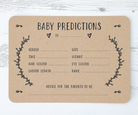 This is a picture of Selective Baby Prediction Cards Free Printable