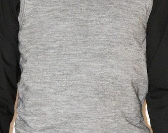 KRUDER, Grey Waistcoat, Wool Blended, Light Grey, Size L, Gilet Uomo, Basic, Grigio Chiaro, Scollo a V, Taglia L