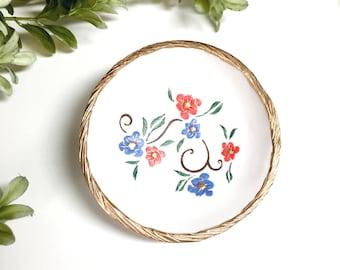 Custom Floral Vine Jewelry Dish / Custom Name Jewelry Dish / Personalize RIng Dish / Personalize Ring Dish