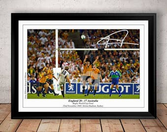 Jonny Wilkinson England Rugby RWC Final 2003 Autographed Signed Photo Print